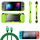 Lot Accessories Case +Shell Cover+Protector+Charging Cable for Nintendo Switch