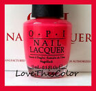 OPI O.P.I Nail Polish - OPEN STOCK - YOUR CHOICE - Full Size Lacquer Series JK - <br/> Save 5% Off Total Order When You Buy More Than One**