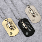 army dog tags for men - Men Military Army Bullet Charm Dog Tags SINGLE EMBOSSED Pendant Chain Necklace