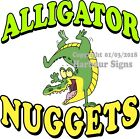 Alligator Nuggets DECAL (Choose Your Size) Food Truck Sign Restaurant Concession