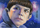 Star Trek Beyond Sketch Card of female Vulcan by Brad Utterstrom on eBay