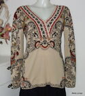 IVKO V Neck V-Neck Pullover Marquetry Pattern Cotton Beige 71542