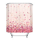 Valentine Colorful Love Bathroom Waterproof Polyester Shower Curtain Hook Set72""