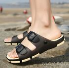 New Fashion Mens Buckle Casual Sandals Slides Slippers Shoes Summer Outdoor 2017