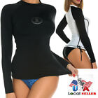 Women's Dive Skin Long Sleeve Rash Guard Shirt Top UPF 40+ Swimwear S-3XL V029