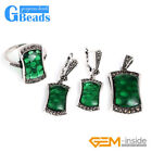 Saddle-shaped Stone Rivet Beads Earrings Pendant Ring Jewelry Sets with Gift Box
