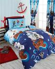 Boys blue pirate ship bedding duvet cover sets kids quilt cover sets & curtains
