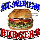 All American Burgers DECAL (Choose Your Size) Food Truck Concession Sticker