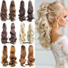Real Thick Clip In As Human Hair Extensions Pony Tail Wrap On Ponytail Long TW5
