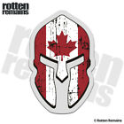 Canada Flag Spartan Helmet Decal Canadian Maple Leaf Gloss Sticker HVG