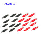 10/20Pcs Croc Clip for Test Leads Black & Red Crocodile Clips
