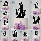 BRIDE AND GROOM PLUS CHILDREN/CHILD WEDDING CAKE TOPPER