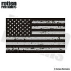 Tattered American Subdued Flag Decal USA United States Gloss Sticker (RH) HVG