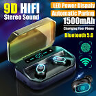 Mini Wireless Bluetooth Earbuds w/ Mic Literal Bass Twins Stereo In-Ear Earphones