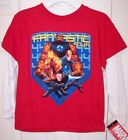 NWT Mad Engine Marvel Boy's LS Red Fantastic Four T-Shirt, 4, 5/6 or 7
