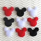 "90 pcs x 7/8"" Padded Felt Mouse Heads Appliques/Mickey/Minnie Valentines ST216"