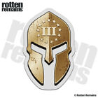 3 Percenter Spartan Helmet Decal Three Percent American USA Gloss Sticker V2 HVG