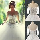 New White Wedding Dress Bride Gown stock Size 6-8-10-12-14-16-18