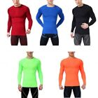 Mens Tight Long Sleeve T-Shirts Sport Gear Compression Under Base Layer Tops Tee