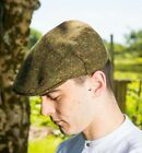Irish Cap Hat Rich Green Donegal Tweed Irish Made By John Hanly Ireland h36