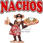 Nachos DECAL (Choose Your Size) Monkey Concession Food Sticker