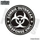 Zombie Outbreak Response Unit White Decal Control Team Gloss Sticker HVG