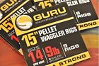 GURU READY TIED PELLET WAGGLER RIGS WITH BAIT BANDS 15""