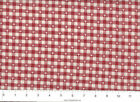 Tiny Trees on Homespun Red check  : 100% cotton fabric : by the 1/2 metre