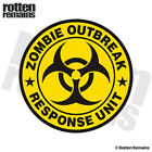 Zombie Outbreak Response Unit Yellow Decal Control Team Gloss Sticker HVG