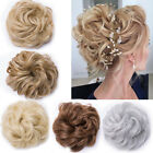 Womens Wrap Messy Hair Bun Short Ponytail Hair Extension 1Pcs Curly As Human F56