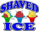 Shaved Ice DECAL (CHOOSE YOUR SIZE) Food Truck Concession Vinyl Sticker