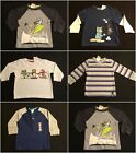 NWT Gymboree Boys LS Shirts Size 12-18 MONLY Selection!