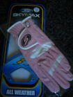 Skymax Baby Pink Ladies All Weather Golf Glove Lycra Inserts Left Hand Small New