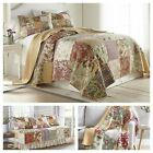 Delaney 3-piece Floral Patchwork Reversible Vintage Washed 100% Cotton Quilt Set image