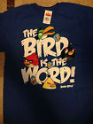 Angry Bird The Bird is the Word 100% Cotton Tagless T-Shirt Sz XL New