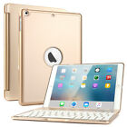 """7 Colors Backlit Bluetooth Keyboard Case Cover for iPad 5 Gen Air Pro 9.7"""" 10.5"""""""