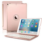 "7 Color Backlit Bluetooth Keyboard Case Cover fr iPad 5/6 Gen Air Pro 9.7"" 10.5"""