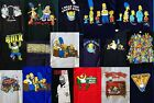 The Simpsons Men's Short-Sleeve T-Shirts Various Patterns Auction #2 Brand New