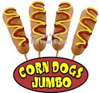 Jumbo Corn Dogs DECAL (CHOOSE YOUR SIZE)  Food Truck Sign Concession Sticker