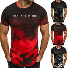 Men's Summer Round Neck Short Sleeve Shirt Holiday Casual Shirts Style S-3XL New