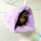 Purple Bird Hammock Hanging Cave Cage Plush Snuggle Happy Hut Tent Bed Bunk Toy