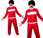 80s Retro Trackie Costume Adults Shell Suit Scouser Fancy Dress Mens Outfit