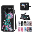 Pattern PU Leather Hand Strap Wallet Case Stand Cover for Samsung Galaxy S9 Plus