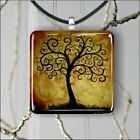 TREE OF LIFE GOLDEN ATMOSPHERE PENDANT NECKLACE 3 SIZES CHOICE -dnu6Z