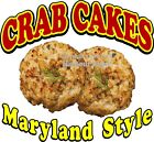 Crab Cakes Maryland Style DECAL (CHOOSE YOUR SIZE) Food Truck Concession Sticker