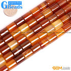 """Natural Carnelian Agate Tube Beads For Jewelry Making Free Shipping 15"""" 4-12mm"""