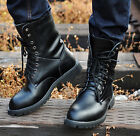 HOT Mens Boys Leather Lace Up Military High Boots Ankle Desert Combat Shoes Boot