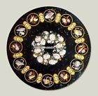 Round Marble Center Antique Table Inlay Decoration Arts Interior Furniture H4810