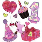 1st birthday stickers - Jolee's 1ST BIRTHDAY GIRL Stickers Baby Cupcake Presents Balloons Party