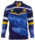 NORTH QUEENSLAND COWBOYS NRL ADULT LONG SLEEVE FISHING POLO SHIRT WITH COLLAR